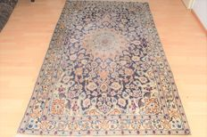 Persian carpet, Nain with silk - mid last century - 215 x 120 cm