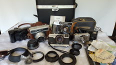 A Carl Zeiss Jena Werra 3 camera and other cameras