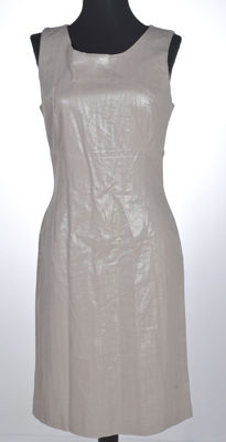 Versace - beige shiny dress never worn