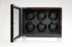 Premium watch winder for 6 automatic watches, with remote control