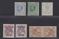The Netherlands 1872/1924 – Various issues – NVPH 19, 25, 61b, 81 and 102/103