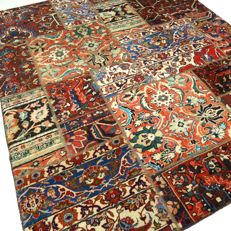 "Patchwork – 237 x 167 cm – ""Combination of the most beautiful Persian carpets, in wonderful, mint condition"""