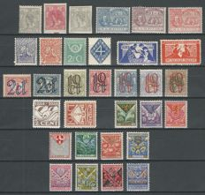 The Netherlands, 1922, selection between NVPH 81 and 211