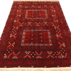 "Afghan – 233 x 166 cm – ""Authentic eye-catcher – Persian carpet in mint condition""."