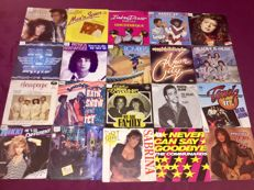 "Lot of 70x 7"" Disco singles"