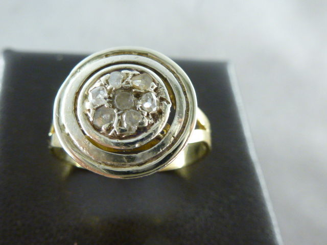 Ring with rosette from the '50s