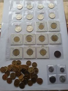 Italy, Republic – lot of 75 coins, including 10 silver coins
