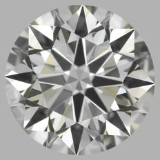 0.60ct Round Brilliant Diamond  I SI1 IGI -ORIGINAL IMAGE-3EX #1871