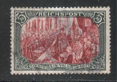 German Empire/Reich 1900 - 5 Mark Reichspost in good print, Michel 66 IV, verified Jäschke-L. BPP