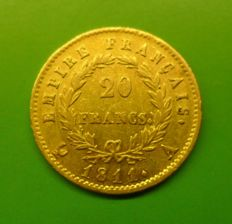 France - 20 Francs 1811 A - Napoleon - Gold