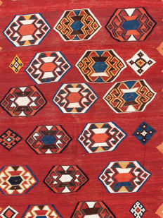 Antique Qashqai Kilim, around 1900, 280 x 160 cm