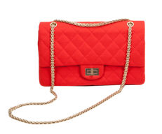 Chanel – Red 2.55 Quilted Wool Jersey Reissue