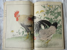 Lot of 4 authentic albums of woodblock prints, Four Seasons (155 prints) by Imao Keinen (1845-1924) - 'Keinen kacho gafu' (bird and flower painting manual by Keinen) - Japan - 1891.