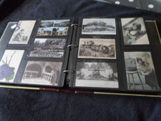 France  Album de 390 cartes postales ancienne villes villages patriotes folklore illustrateurs poulbot  fantaisie et divers