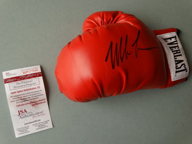 Mike Tyson world heavyweight boxer, Everlast glove, originally signed  + COA jsa