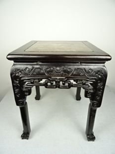 Hardwood side table, China, late nineteenth century