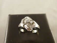 White gold ring with 0.05 ct diamond – size 47 (EU)