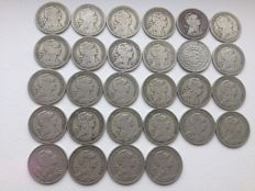 Portugal – 28 x 50 Centavos coins – 1927 to 1968 – Lisbon