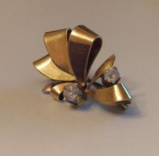 Yellow gold brooch - 1960s