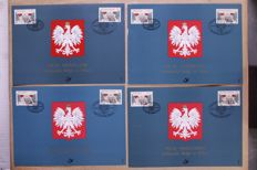 Belgium approx. 1965/2002 - Batch FDCs/MVTM sheets in bundles in box