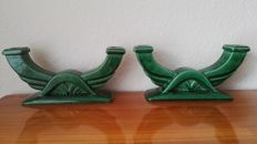 A pair of Art Deco period candelabras from Saint-Clement