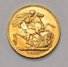 Great Britain - Sovereign 1913 George V - gold