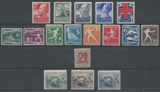 The Netherlands, 1927-1930, selection, NVPH 2013-207, 212-219, 224, 229-231