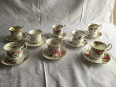 Royal Albert 8 porcelain cups and saucers  - in very good condition