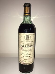 1938 Chateau Talbot, Saint-Julien 4ème Grand Cru Classe – 1 bottle