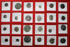 Byzantine Empire -  Lot of 24 All classified - 10 Emperors - All classified