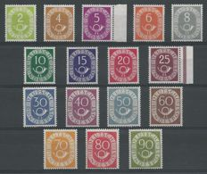 Federal Republic of Germany 1951/1952 – Post Horn – Michel 123/138