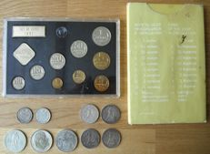 Russia - 20 and 50 kopeks + 3 x 1 rouble 1909/1981 (9 different) - silver + 2 year packs 1978/1988