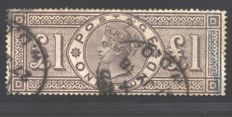 Great Britain – 1884 – £1 – Stanley Gibbons 185