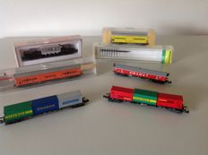 Fleischmann/Minitrix/Roco N - 6 Goods wagons of the DB