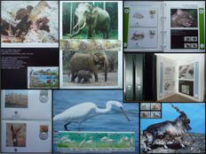 WWF - Topical Collection with FDCs in Three Albums with Coffer