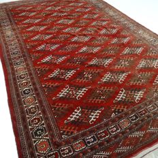 "Semi-antique Afghan – 346 x 207 cm – ""Large authentic Persian carpet in stunning, semi-antique condition."""