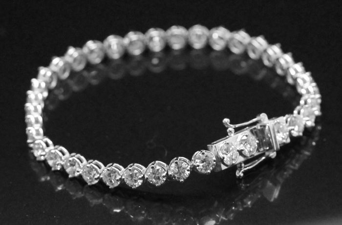 Ladies Bracelet with diamonds total 12.20 ct - Size 200 mm