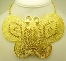 Kenneth J Lane extremely large butterfly vintage necklace