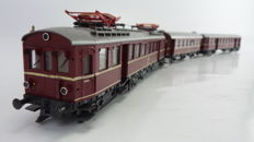 Roco H0 - 04148/4214A - Electric train BR 485/885, fitted with interior lighting with intermediate wagon of the DB