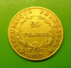 France - 20 Francs An 13 (1805) A - Napoleon - Or
