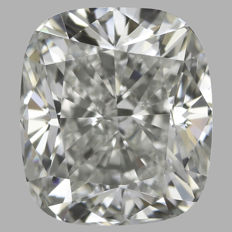 0.90ct Cushion Modified   Brilliant Diamond H VVS2  IGI  -Original Image-10X - Serial#1886