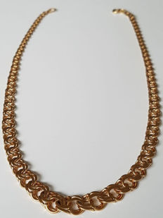 18k gold necklace made around 50s  in Sweden ***No reserve price***