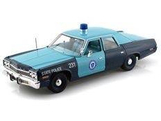 Autoworld - Scale 1/18 - 1974 Dodge Monaco - State Police of Massachusetts