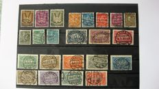 Weimar Republic 1923 - one small collection on stock cards
