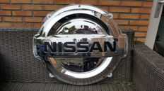 Nissan - Dealer sign - wall plate - plastic/spherical - 76 x 88 x 15 cm