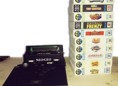 Neo Geo Mvs consolized, 10 genuine boxed games and arcade stick. Vintage and retro games. Very Rare