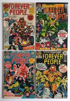 Jack Kirby - Forever People - 4 high grade comics from 1971 - 1st edition
