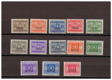 Somalia, 1934 - Postage due stamps (Sassone 52-64).