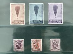 Belgium 1932/1933 - Balloon Piccard and Heraldic lion - OBP 355/376