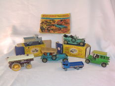 Lesney Matchbox Yesteryear - Various scales - Sentinel Steam Waggon Y4, AEC Y Type Lorry Y6, Fowler Showman Y9, Thomas Flyabout Y12, Benz Y3, Rolls-Royce Y15
